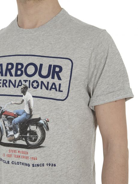 Barbour T-shirt grigia con stampa