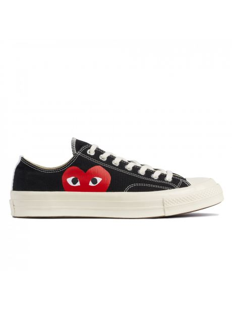 Play Comme des Garçons Converse Red Heart Chuck Taylor All Star '70 Low (Black)