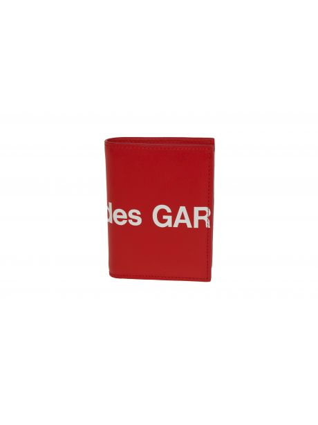 COMME DES GARCON PLAY Huge Logo Wallet red
