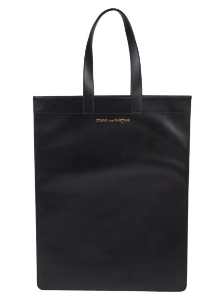 COMME DES GARCON PLAY Borsa Wallet Classic Leather Tote Bag black