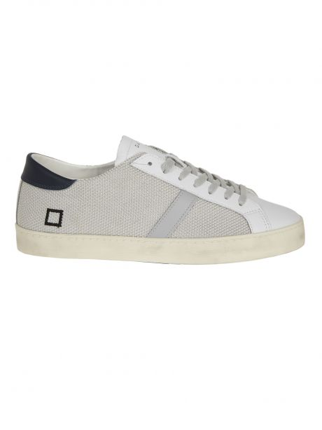 D.A.T.E. Sneakers uomo HILL LOW POP ARGENTO WHITE