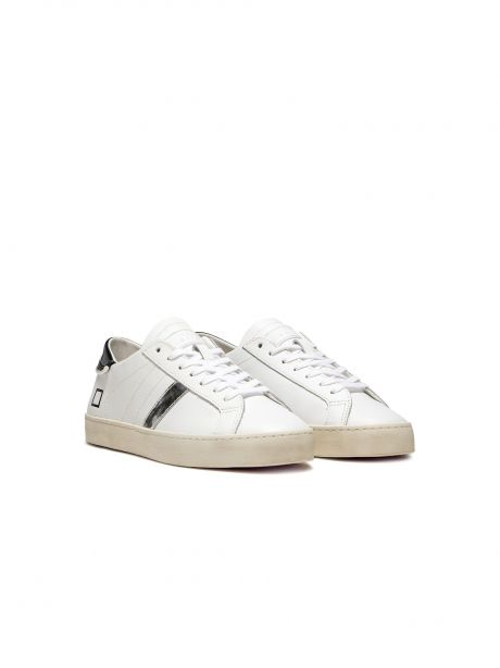 D.A.T.E. Sneakers donna Hill low calf pearls white