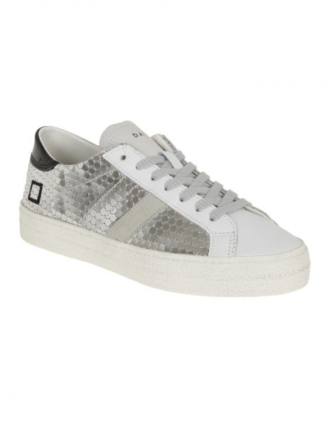 D.A.T.E. Sneakers donna HILL LOW PONG SILVER
