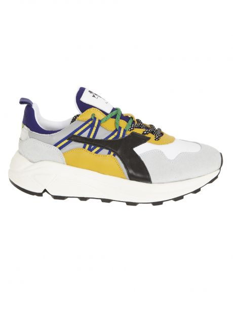 DIADORA Sneakers uomo RAVE LEATHER POP grey alaska