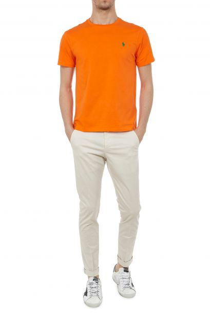 Dondup Pantalone burro Gaubert in gabardina stretch