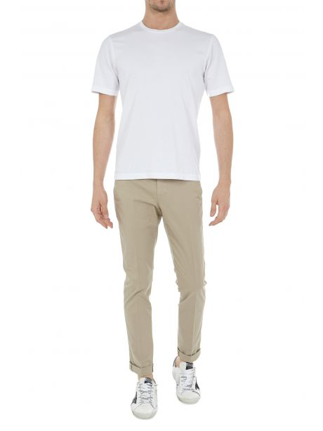 Dondup Pantalone beige Gaubert in gabardina stretch