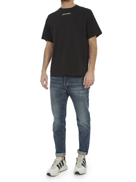 GOLDEN GOOSE Jeans Up relaxed fit in denim one wash blu