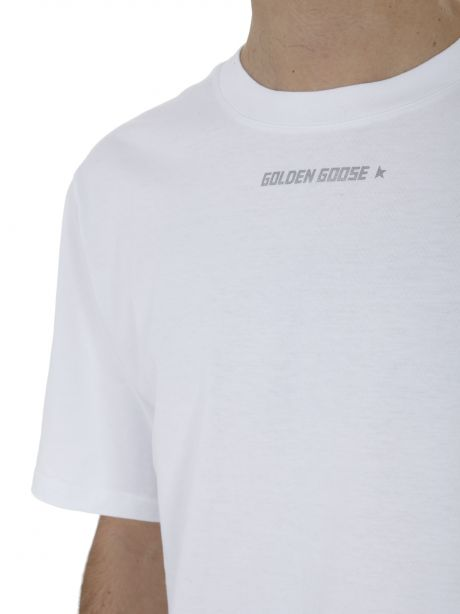 GOLDEN GOOSE T-shirt bianca con stampa posteriore