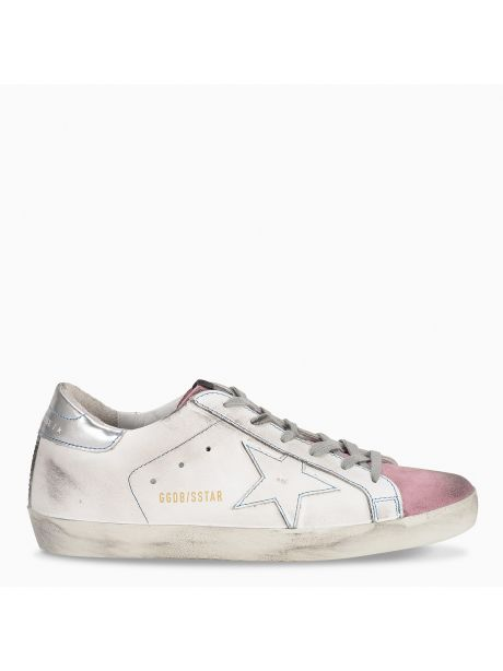 GOLDEN GOOSE Sneakers Donna Superstar bianca/stella bianca/rosa