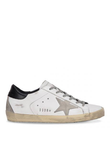 GOLDEN GOOSE Sneakers Donna Superstar bianca/stella camoscio/nero