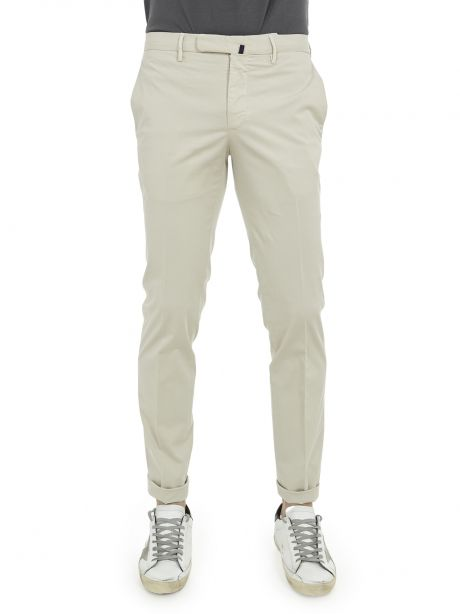 INCOTEX Pantalone ghiaccio tight fit in lyocell bistretch e cotone