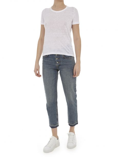ISABEL ETOILE MARANT T-shirt bianca in cotone