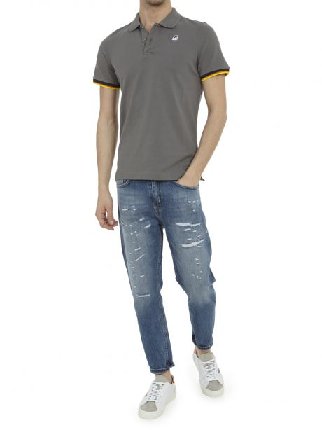 K-WAY Polo Vincent Contrast Stretch light grey