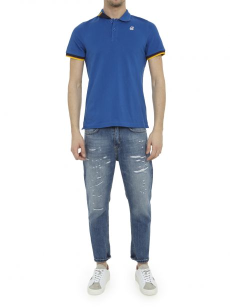K-WAY Polo Vincent Contrast Stretch blue royal