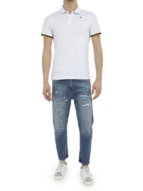K-WAY Polo Vincent Contrast Stretch white