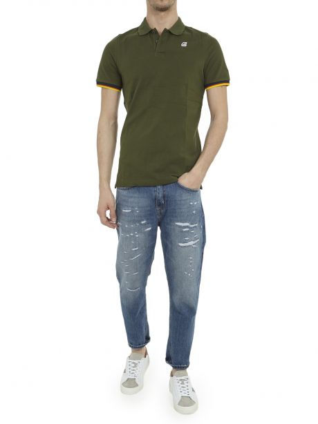 K-WAY Polo Vincent Contrast Stretch green africa