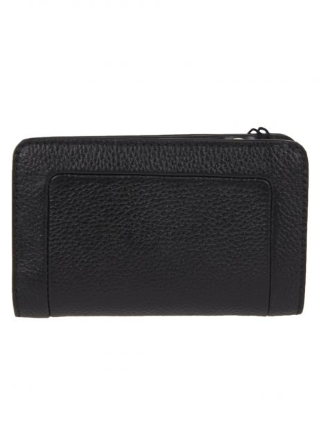 MARC JACOBS THE TEXTURED BOX COMPACT WALLET nero