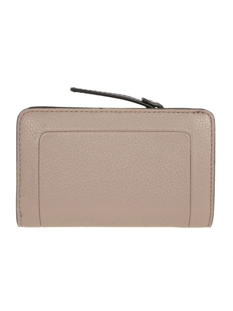 MARC JACOBS THE TEXTURED BOX COMPACT WALLET rosa