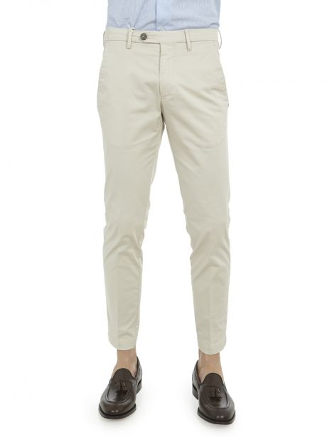 MICHAEL COAL Pantalone Brad slim fit sabbia