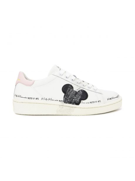 MOA Sneakers donna Grand Master Topolino spray argento