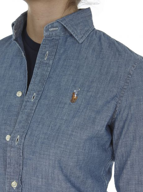 POLO RALPH LAUREN Camicia in chambray Slim-Fit