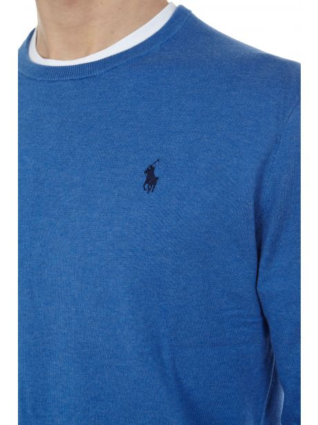 POLO RALPH LAUREN Maglia in cotone Slim-Fit Dockside Blue Heather