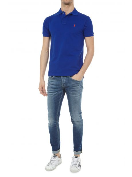 POLO RALPH LAUREN Polo in piqué Slim-Fit Heritage Royal/Red