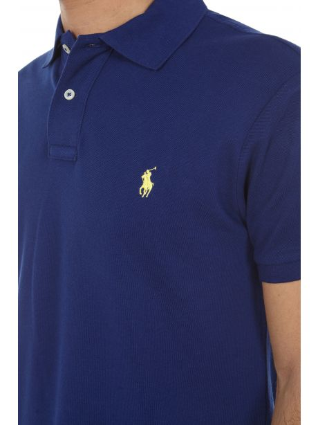 POLO RALPH LAUREN Polo in piqué Custom Slim-Fit Fall Royal/Yellow