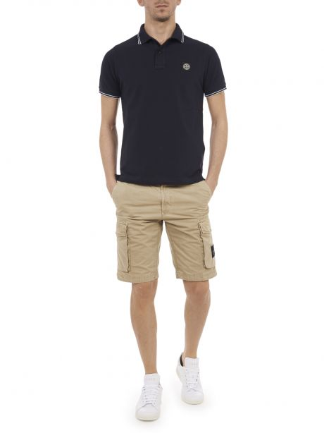 STONE ISLAND 22S18 Polo slim fit blu