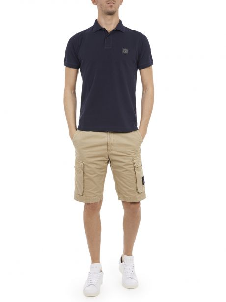 STONE ISLAND 22S67 Polo slim fit blu