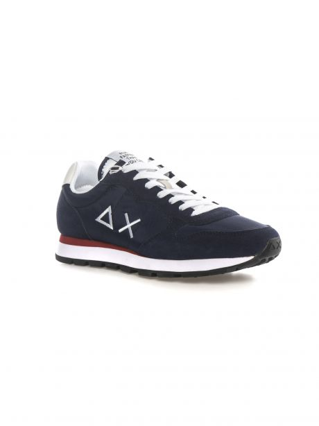 SUN68 Sneakers uomo TOM SOLID NYLON NAVY BLUE/BIANCO