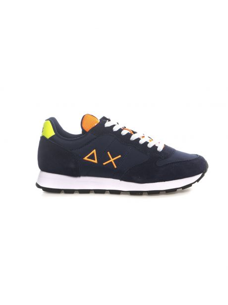SUN68 Sneakers uomo TOM FLUO EVA PRINT NAVY BLUE