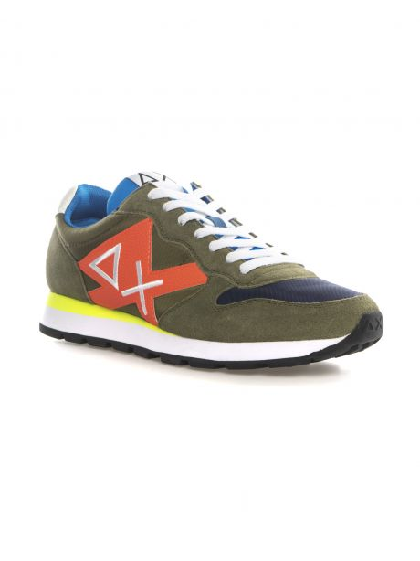 SUN68 Sneakers uomo TOM LOGO PATCH FLUO MILITARE