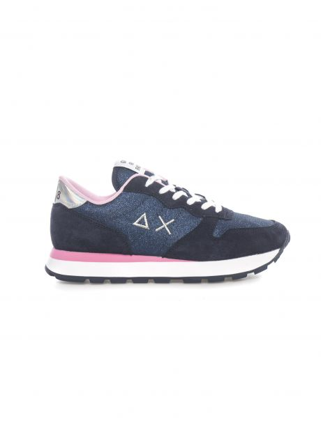 SUN68 Sneakers donna ALLY THIN GLITTER NAVY BLUE