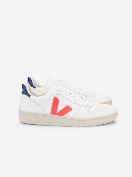 Veja Sneakers V-10 extra white orange cobalt